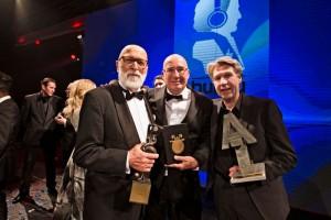 Buma Award-winaars Pierre Kartner, Daniël Dekker en Frank Boeijen